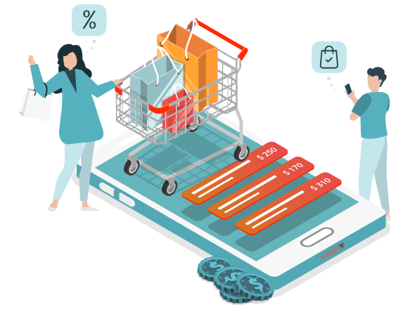 Illustration of eCommerce Client